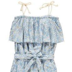Bonnet à pompon Floral Ruffled Jumpsuit-listing
