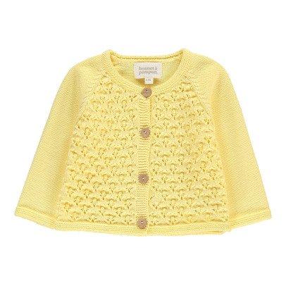 Bonnet à pompon Crochet Cardigan-listing