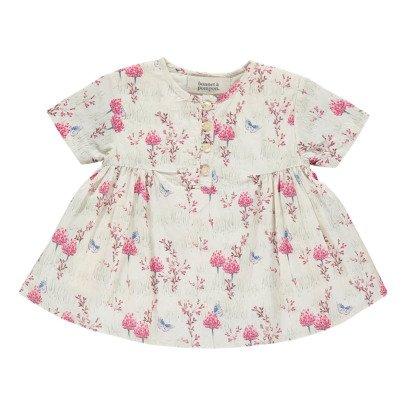 Bonnet à pompon Robe Fleurs-listing