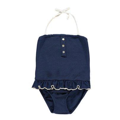 Bonnet à pompon Costume intero-listing