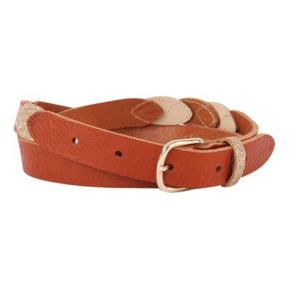 Des petits hauts Pierette Glitter Leather Belt-listing