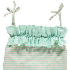 Bonnet à pompon Ruffled Stripe 1 Piece Swimsuit-listing