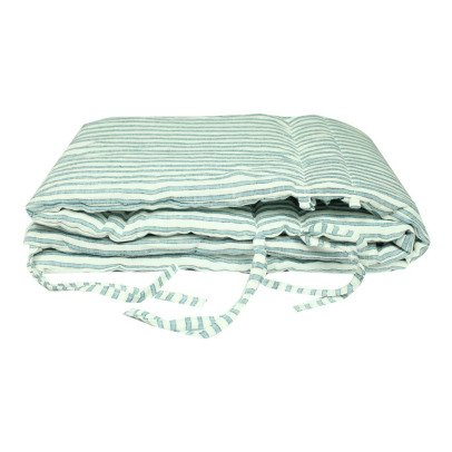 Lab - La Petite Collection Three Stripe Linen Bed Valance-listing