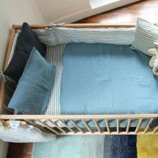 Lab - La Petite Collection Tour de lit en lin Rayé Tricolore-listing