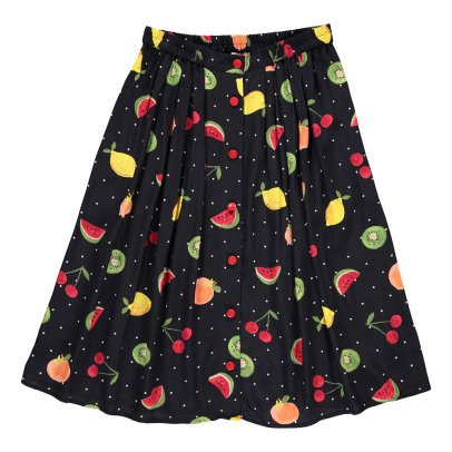 Des petits hauts Simonetta Fruit Button-Up Maxi Skirt-listing