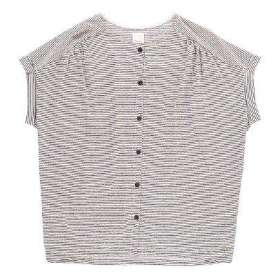 Des petits hauts Jasou Striped Cotton and Linen Shirt-product