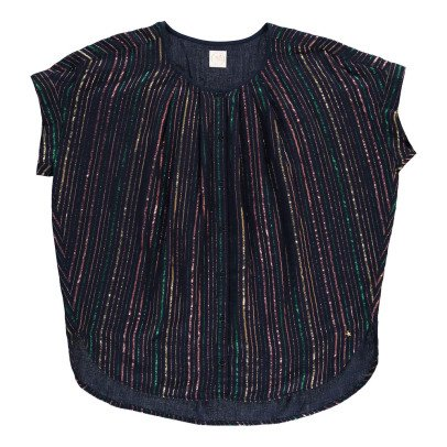 Des petits hauts Wallace Lurex Striped Blouse-product