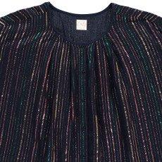 Des petits hauts Wallace Lurex Striped Blouse-listing