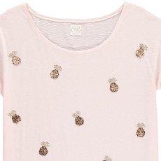 Des petits hauts Ivette Sequin Pineapple T-Shirt-listing
