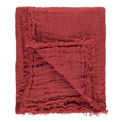 Linge Particulier Manta en gasa doble de lino lavado flecos-product