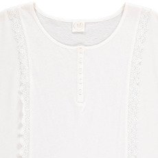 Des petits hauts T-shirt Coton et Lin Volants Kasari-listing