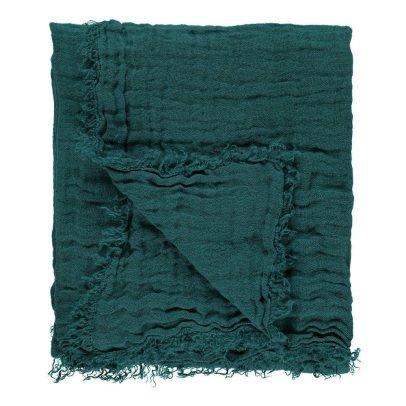 Linge Particulier Plaid in garza doppia di lino slavato frange-listing