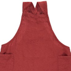 Linge Particulier Children's Pinafore Dress in Washed Japanese Linen with Cross Back-listing