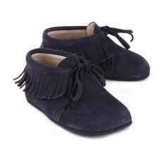 Gallucci Chaussons Suede Lacets Franges-listing