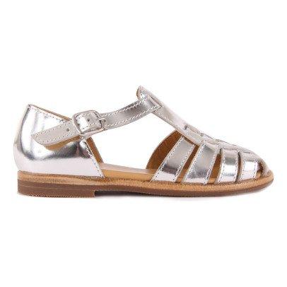 Gallucci Ledersandalen-Silber -listing