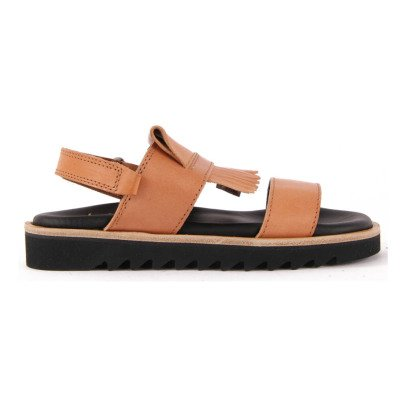 Gallucci Velcro FringedLeather Sandals-listing