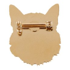 Titlee Jefferson Wolf Gold Brass Pin-listing