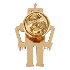 Titlee Marty Robot Gold Brass Pin-listing