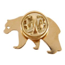 Titlee Emmet White Bear Gold Brass Pin-listing