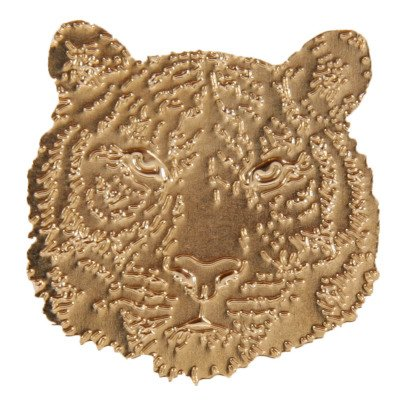 Titlee Leroy Tiger Gold Brass Brooch-listing