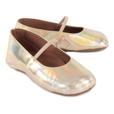 Pèpè Metallic Leather Ballerina Slippers-listing