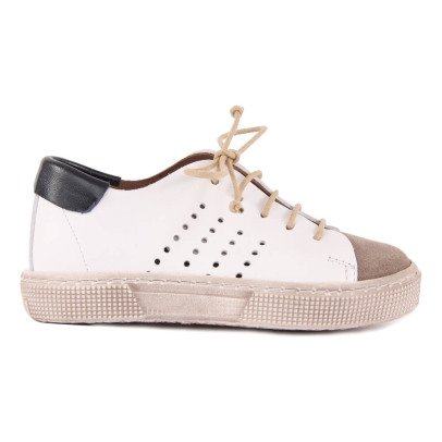 Pèpè Nubuck and Leather Lace-Up Trainers-listing