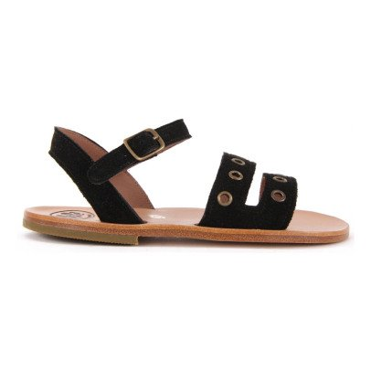 Pèpè Perforated Nubuck Buckled Sandals-listing