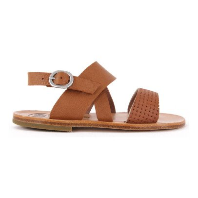Pèpè Perforated Leather Sandals-listing