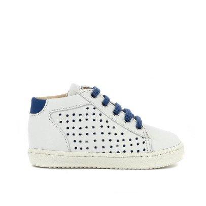 Pom d'Api Baskets à Lacets Bleu-listing