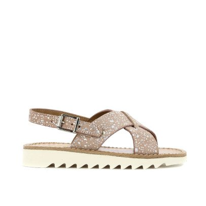 Pom d'Api Cross Buckle Ripple Leather Sandals-listing