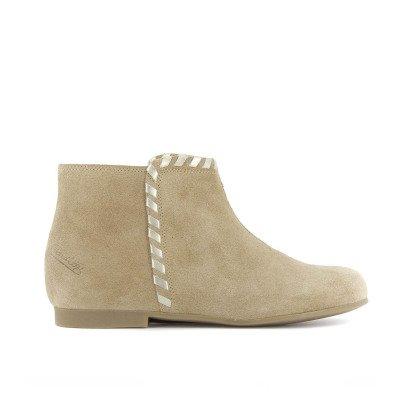 Pom d'Api Dory Plaited Flat Boots-listing