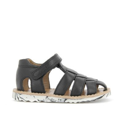 Pom d'Api Papy Waff Velcro Leather Sandals-listing