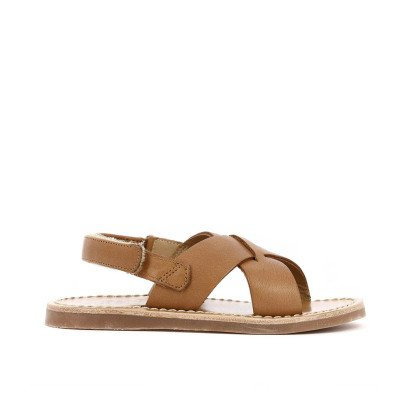 Pom d'Api Cross Stitch Leather Beach Sandals-listing
