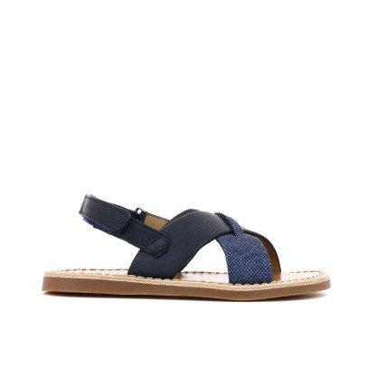 Pom d'Api Stitch Cross Beach Sandals-listing