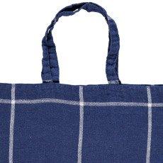 Linge Particulier Shopper in lino lavato Tartan-listing