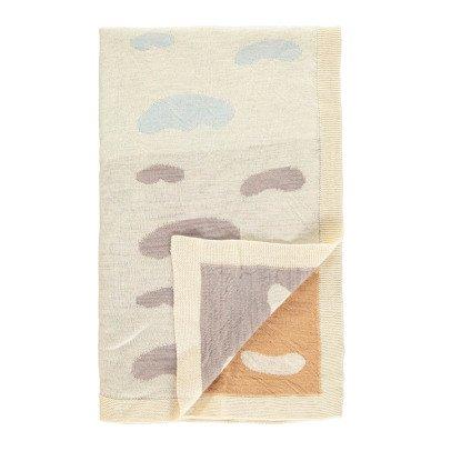 Whole Manta infantil tricot jacquard Waca nubes  75x130 cm -listing