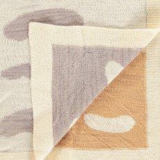 Whole Couverture enfant en tricot jacquard Waca nuages 75x130 cm-listing