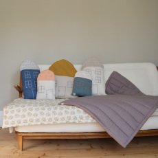 Camomile London Hand Embroidered Quilted Blanket-listing