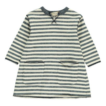 De Cavana Fleece Striped Dress with Pockets-listing