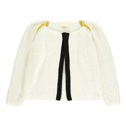 Cataleya Organic Cotton Lulu Contrasting Band Cardigan-listing
