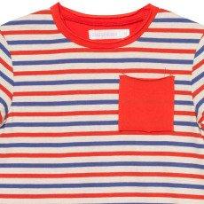 Oaks of acorn Camiseta Rayas Bolsillo Central-listing