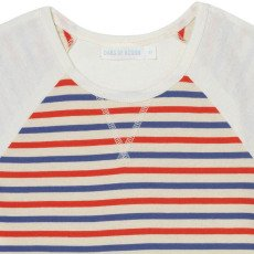 Oaks of acorn Aberdeen Pocket Striped Sweat T-Shirt-listing