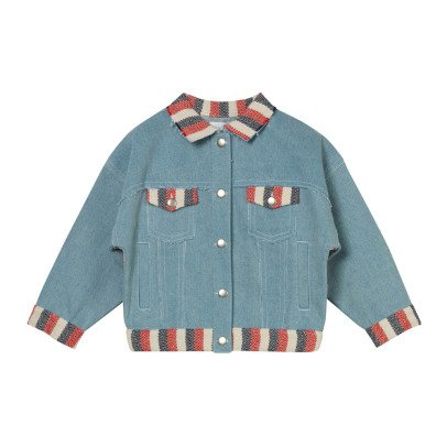 Oaks of acorn Veste Denim Rayée Tricolore Kowloon-listing