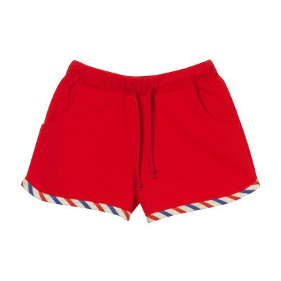 Oaks of acorn Mongkok Striped Trim Shorts-listing
