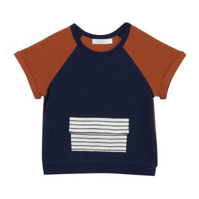 Oaks of acorn Aberdeen Striped Pocket Sweat T-Shirt-listing