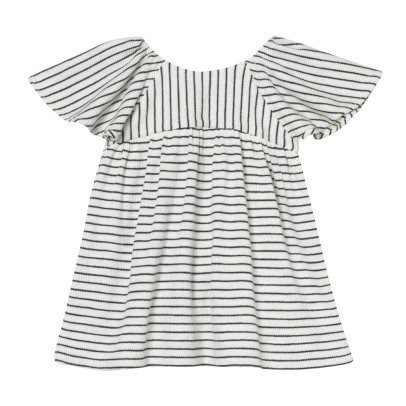 Oaks of acorn Island Frilly Sleeve Striped Dress-listing