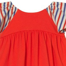 Oaks of acorn Island Tricolour Frilly Sleeve Striped Dress-listing