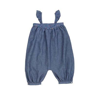 Ketiketa Vanda Embroidered Chambray Jumpsuit-listing