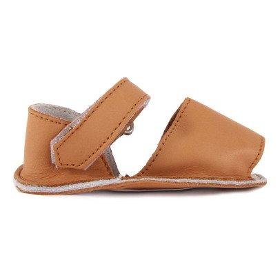 Minorquines Sandalias Cuero Velcro Frailera -listing
