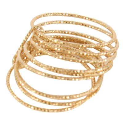 5 Octobre Ring Silber Feinvergoldet Ten -listing